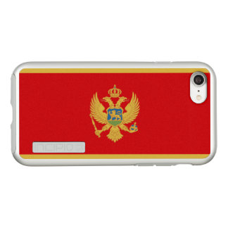 Flag of Montenegro Silver iPhone Case