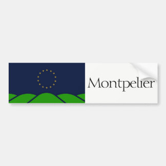 Flag of Montpelier, Vermont bumper sticker