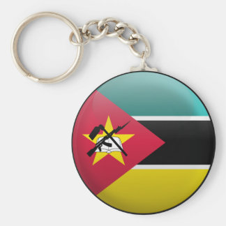 Flag of Mozambique Basic Round Button Key Ring