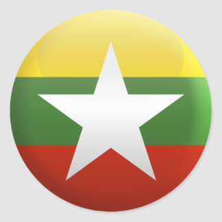 Flag of Myanmar Classic Round Sticker