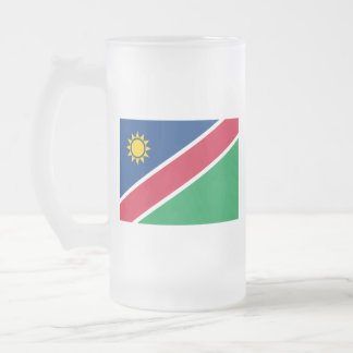 Flag of Namibia Frosted Glass Beer Mug