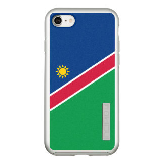 Flag of Namibia Silver iPhone Case