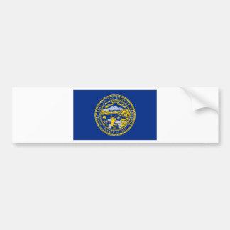 Flag Of Nebraska Bumper Sticker