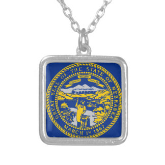 Flag Of Nebraska Silver Plated Necklace