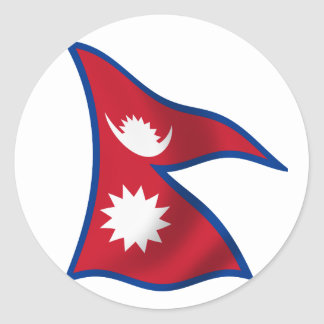 Flag of Nepal Classic Round Sticker