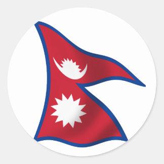 Flag of Nepal Round Sticker