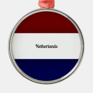Flag of Netherlands Metal Ornament