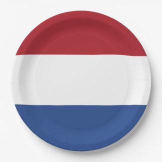 Flag of Netherlands Paper Plate