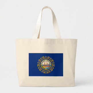 Flag_of_New_Hampshire Large Tote Bag