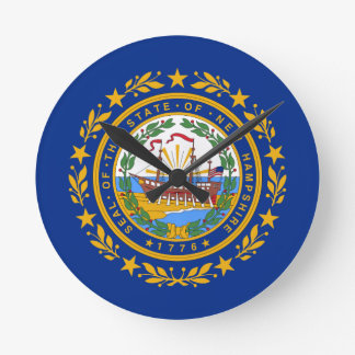 Flag Of New Hampshire Round Clock