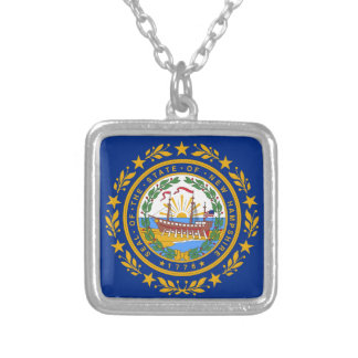 Flag Of New Hampshire Silver Plated Necklace