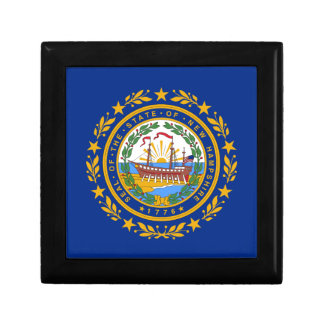 Flag of New Hampshire Small Square Gift Box
