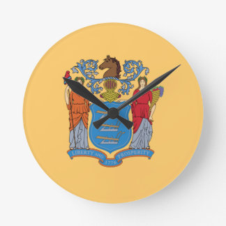 Flag Of New Jersey Round Clock