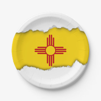 Flag of New Mexico 7 Inch Paper Plate