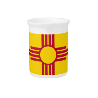 Flag Of New Mexico Pitcher