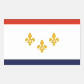 Flag of New Orleans, Louisiana Rectangular Sticker