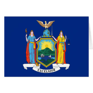 Flag of New York Note Card