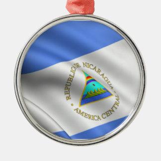 Flag of Nicaragua Premium Round Ornament