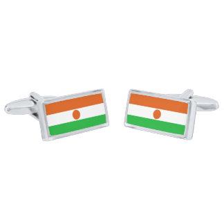 Flag of Niger Cufflinks Silver Finish Cuff Links