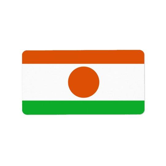 Flag of Niger Labels