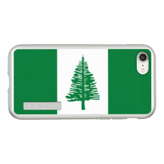 Flag of Norfolk Island Silver iPhone Case