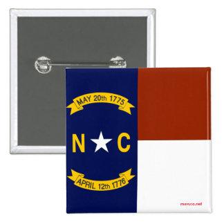 Flag of North Carolina 15 Cm Square Badge