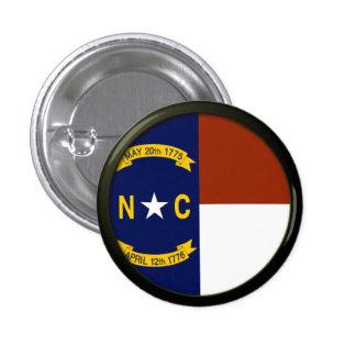 Flag of North Carolina 3 Cm Round Badge