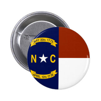 Flag of North Carolina 6 Cm Round Badge