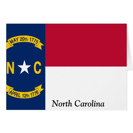 Flag of North Carolina Greeting Cards