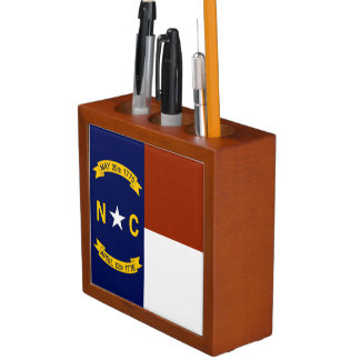 Flag of North Carolina Desk Organiser