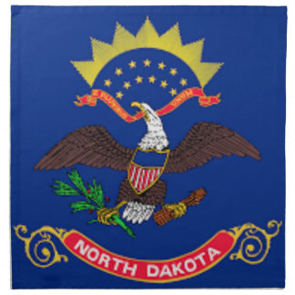 Flag Of North Dakota Napkin