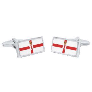 Flag of Northern Ireland Cufflinks Silver Finish Cufflinks