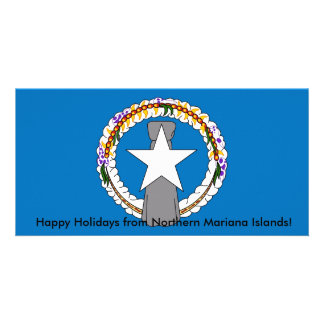 Flag of Northern Mariana Islands Personalised Photo Card