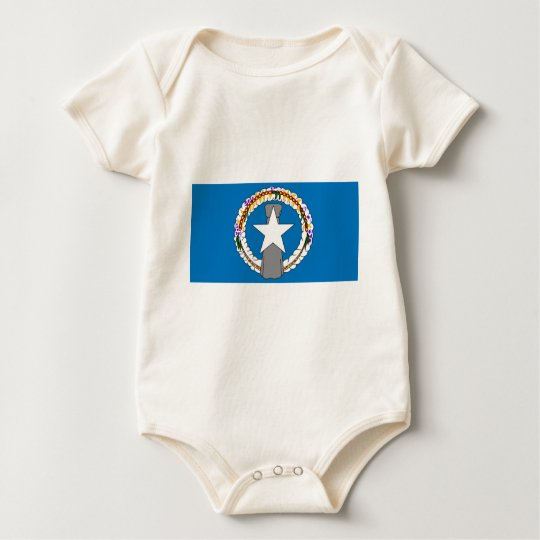 Flag Of Northern Mariana Islands (USA) Baby Bodysuit