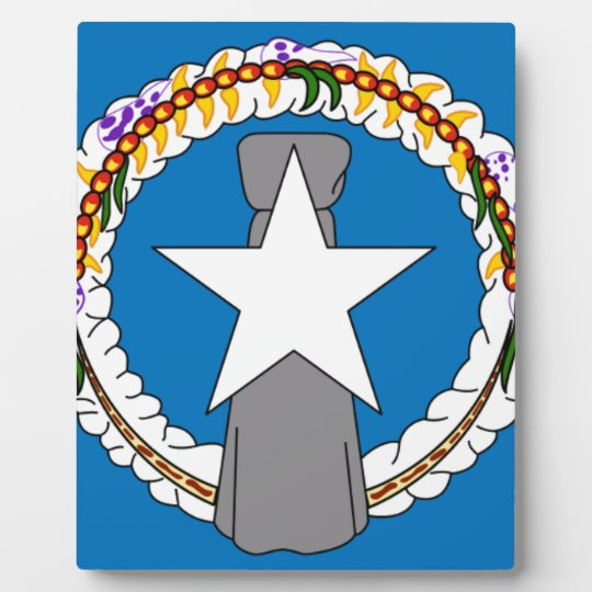 Flag Of Northern Mariana Islands (USA) Photo Plaque
