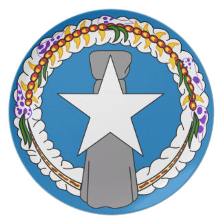 Flag Of Northern Mariana Islands (USA) Plate