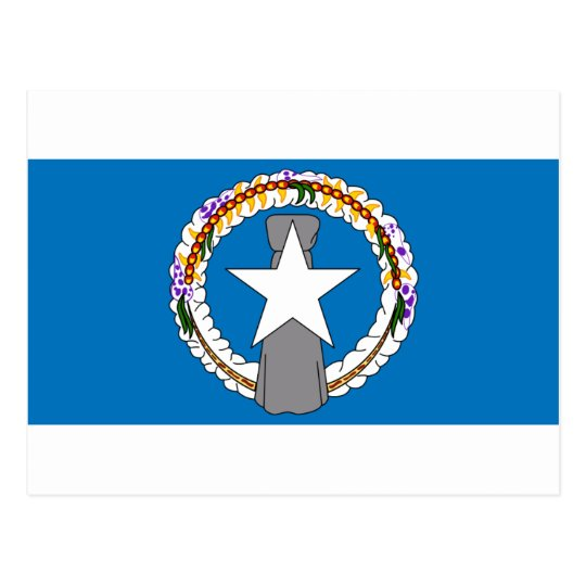 Flag Of Northern Mariana Islands (USA) Postcard