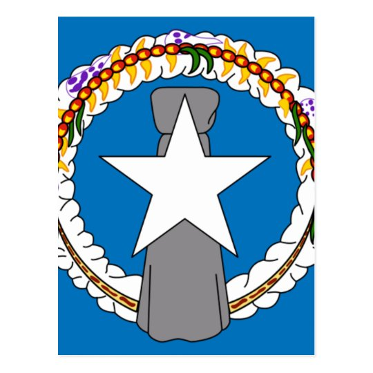 Flag Of Northern Mariana Islands (USA) Postcard