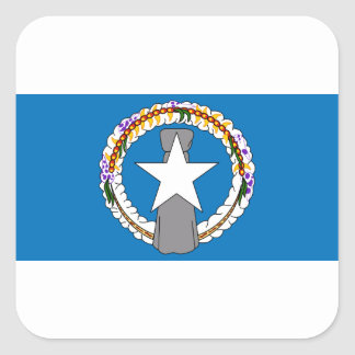 Flag Of Northern Mariana Islands (USA) Square Sticker
