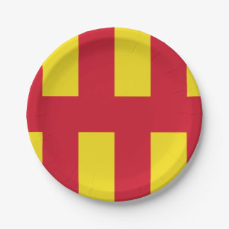 Flag of Northumberland Paper Plate