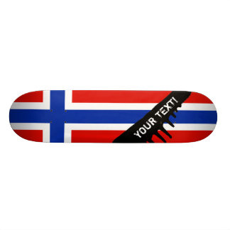 Flag of Norway 21.6 Cm Old School Skateboard Deck