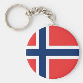 Flag of Norway Basic Round Button Key Ring
