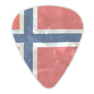 Flag of Norway Guitar Picks Pearl Celluloid Guitar Pick