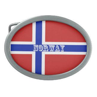 Flag of Norway Scandinavian Belt Buckle