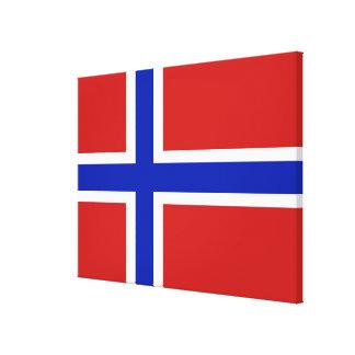 Flag of Norway Scandinavian Canvas Print