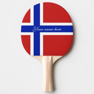 Flag of Norway Scandinavian Ping Pong Paddle
