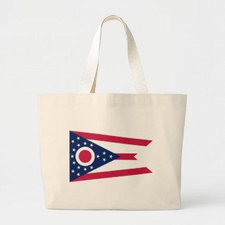 Flag_of_Ohio Large Tote Bag