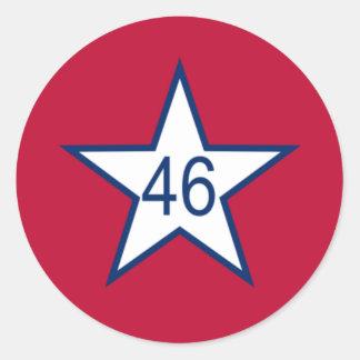 Flag Of Oklahoma Classic Round Sticker