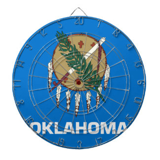 Flag Of Oklahoma Dartboard