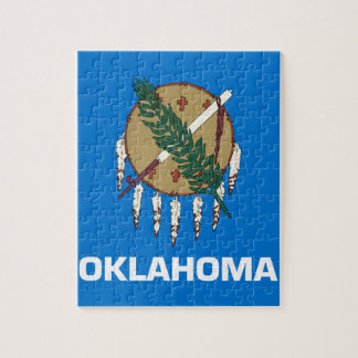 Flag Of Oklahoma Jigsaw Puzzle